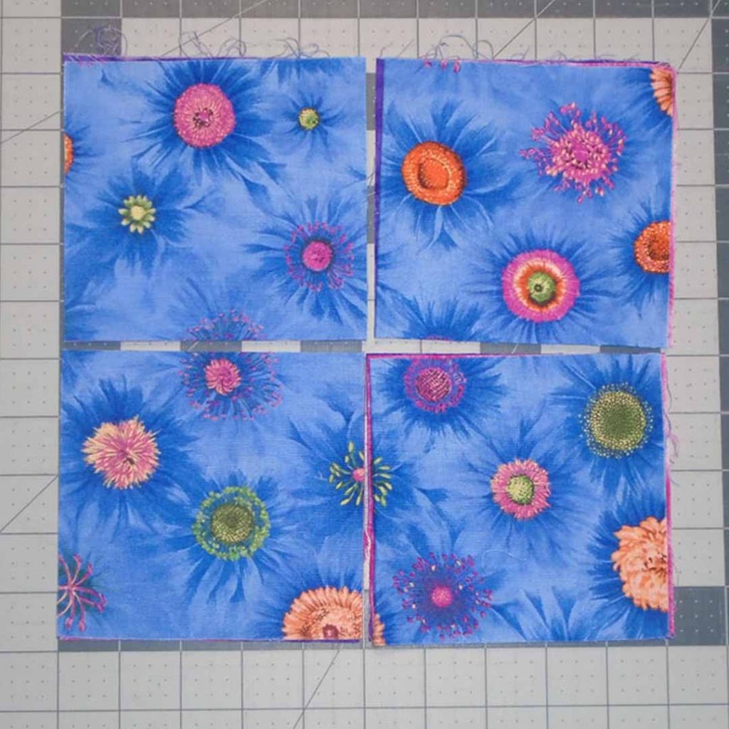 photo of Easy Patch Quilt cutting layout