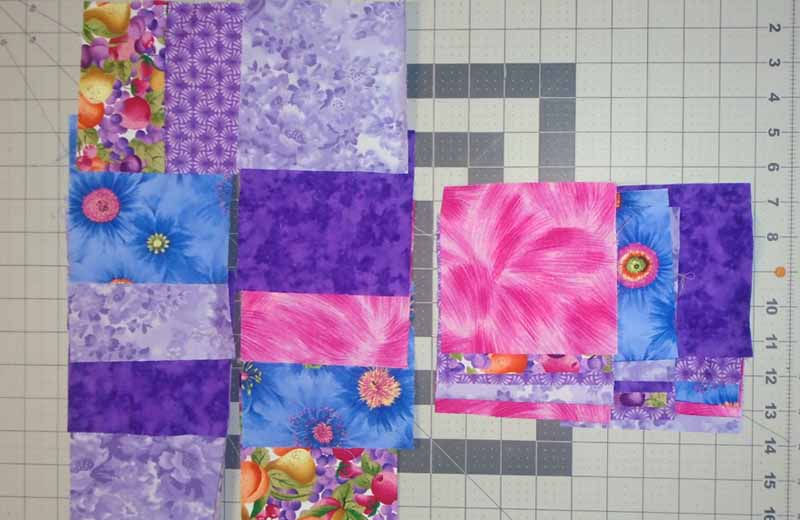 photo of Easy Patch Quilt 5 in Block Layout with three Rows Stacked