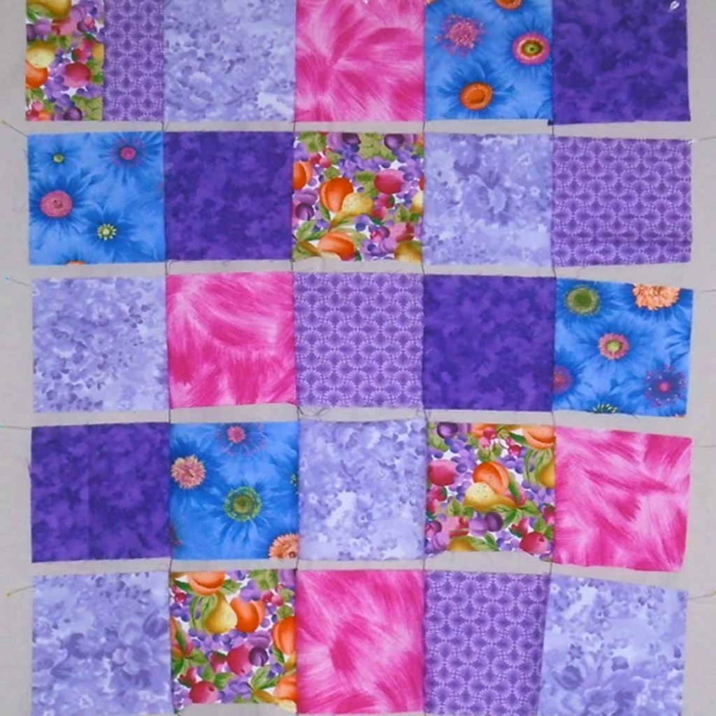 photo of Easy Patch Quilt Front_All Rows Chainstitched