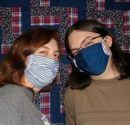 Photo of finished DIY Face Mask