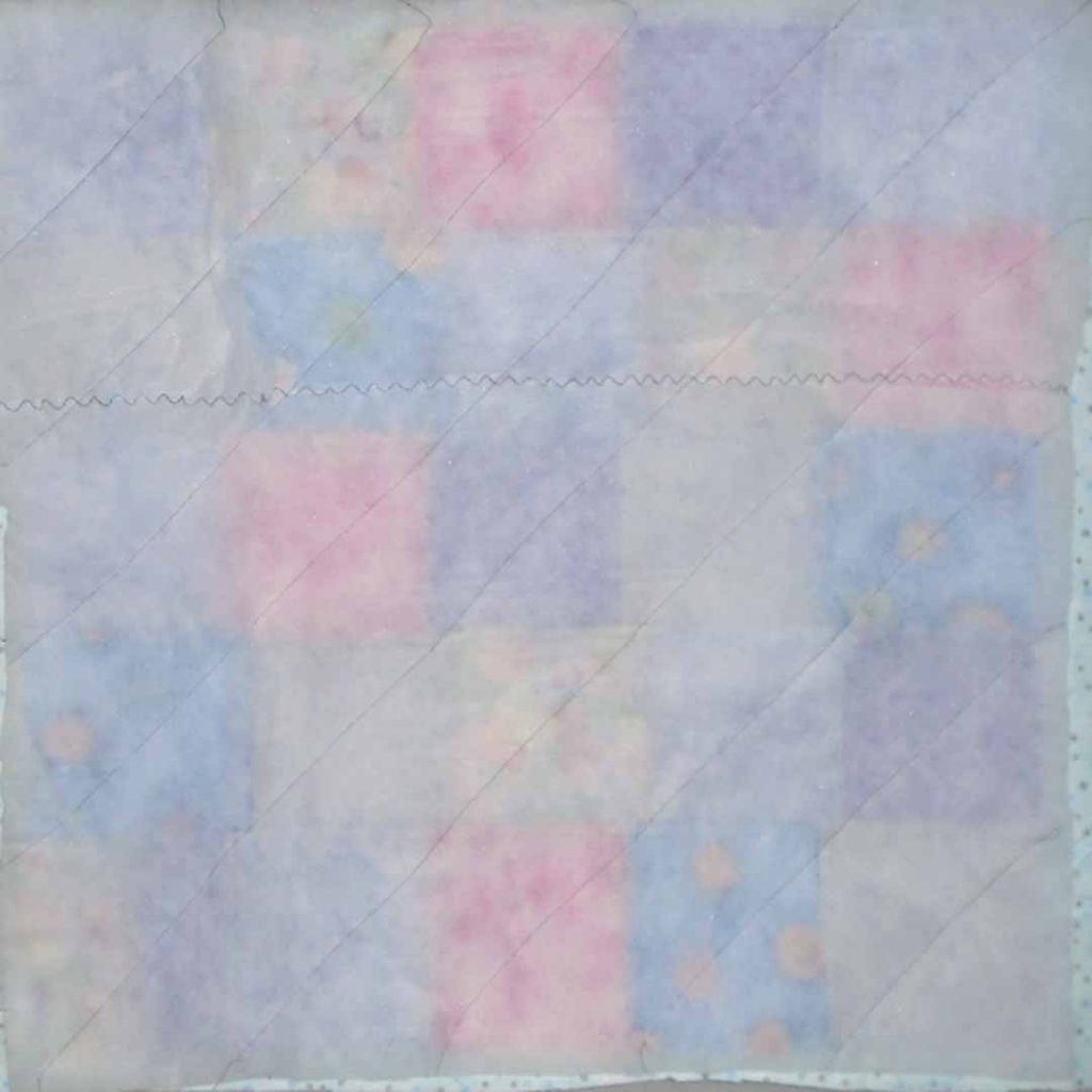 photo of 12 Easy Patch Quilt Batting only Quilted with quilt top