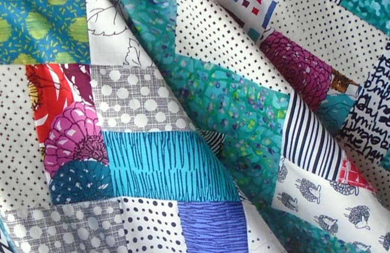 photo of Easy Baby Rail Fence Quilt
