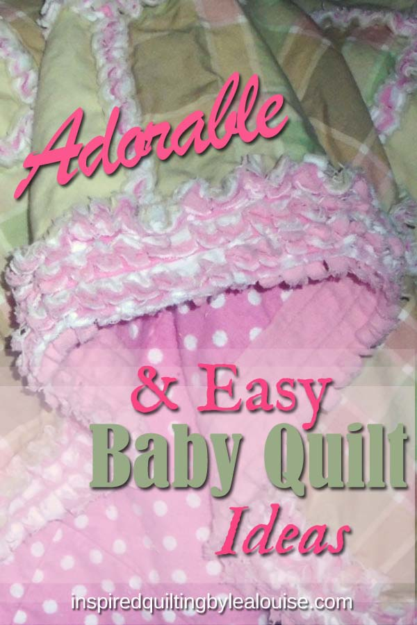 Photo of easy baby rag quilt