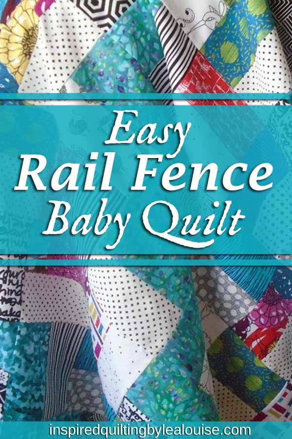 photo of Pinterest for Easy Rail Fence Baby Quilt