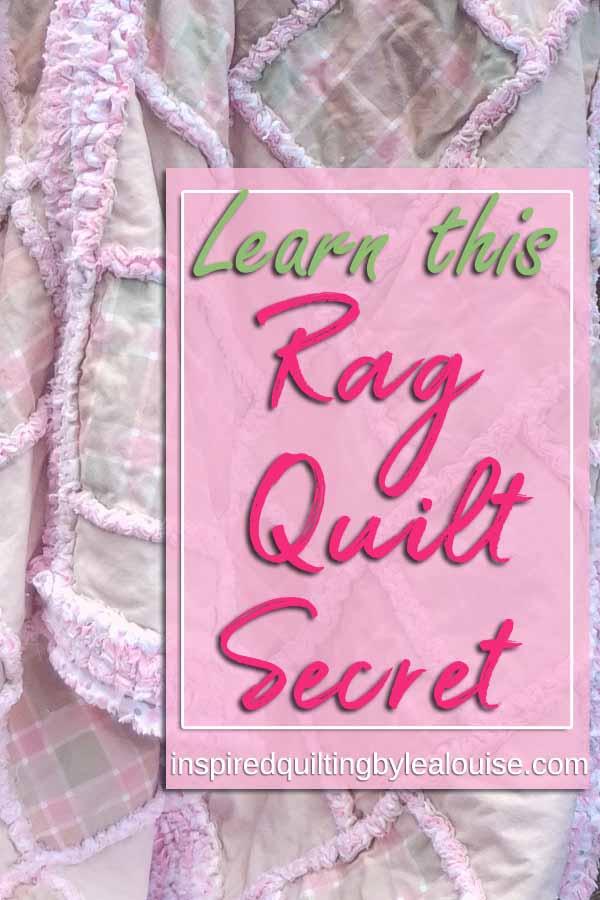 photo of Crib size rag quilt pin