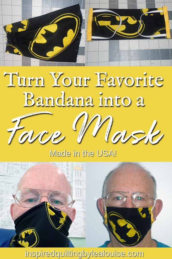 photo of DIY face mask made from a bandana