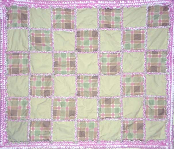 photo of Easy Baby Rag Quilt with ruffled border