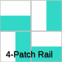 Photo of 4-Patch Rail Fence Quilt Block