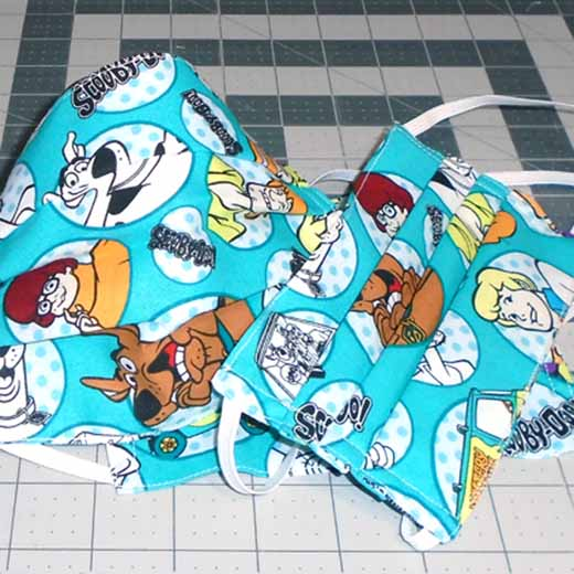 photo of Easier DIY Face Mask Adult and Child Size_Scooby Doo Print