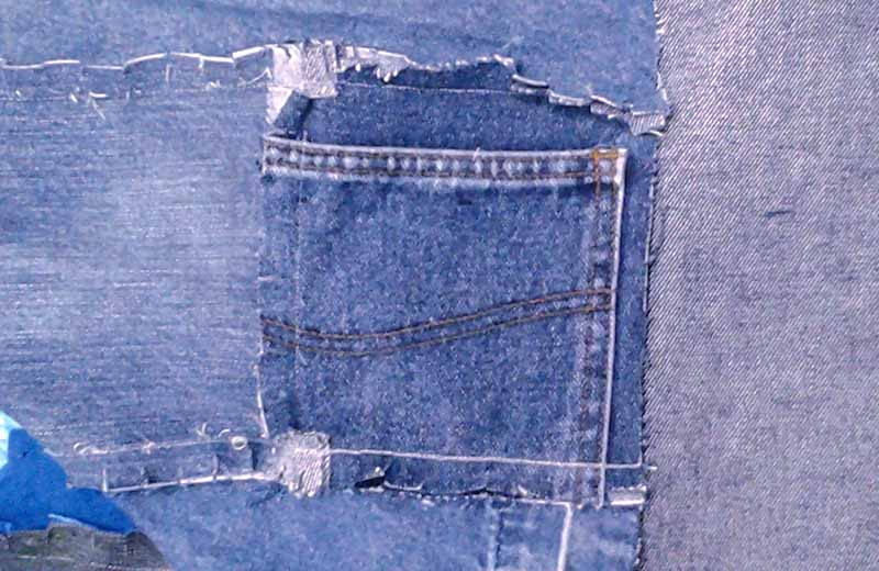 photo of Easy Blue Jean Rag Quilt suggestions for adding pockets