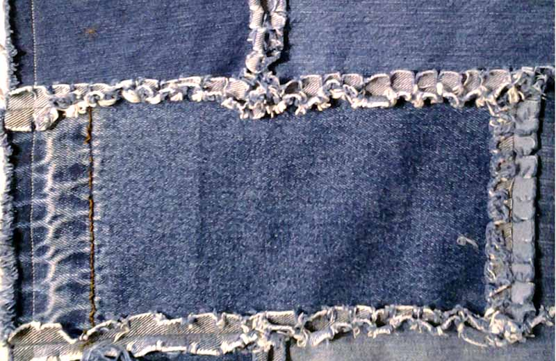 photo of Easy Blue Jean Rag Quilt_How to Sew all seams flat & clip