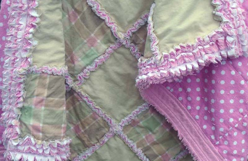 photo of Easy Baby Rag Quilt with Ruffled Borders