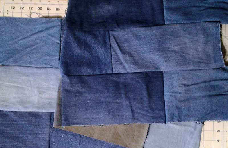 photo of Easy Blue Jean Rag Quilt
