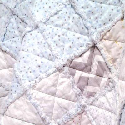 How to Make a Crib Size Rag Quilt