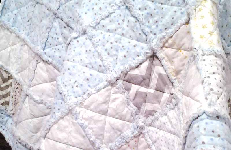 Photo of low volume baby rag quilt