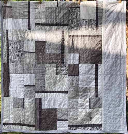 photo of gray modern fat quarter Quilting pattern