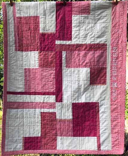 photo of Pink modern fat quarter Quilting pattern