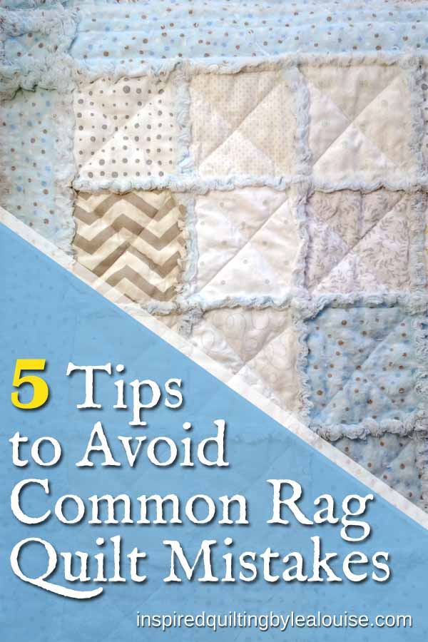 Photo of pin for 5 Tips to Avoid Common Rag Quilt Mistakes