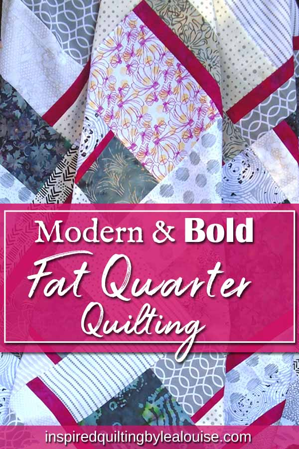 photo of modern fat quarter quilting pattern pin for pinterest