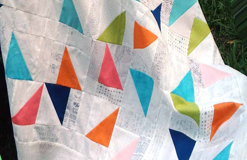 photo of charming triangles quilt