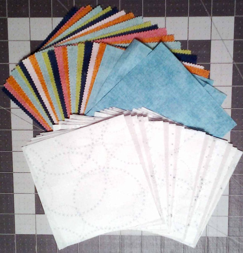 photo of Charm Squares cut from yardage