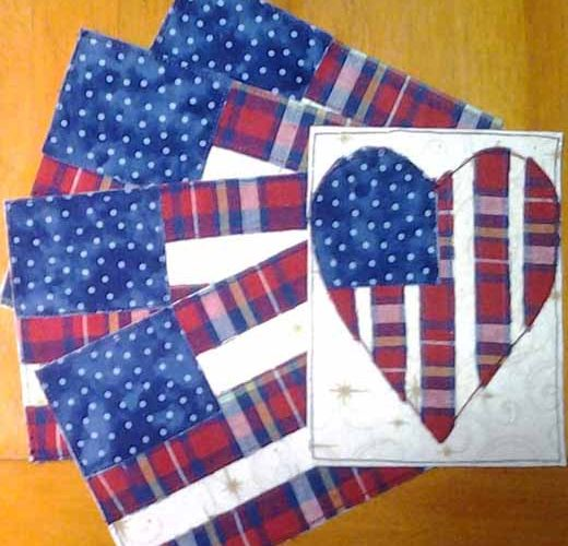 photo of Mini Quilt July 4th Postcards