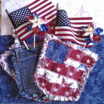 Make A Blue Jean Pocket Mini Rag Quilt
