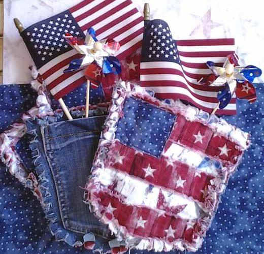 photo of Blue Jean Pocket Mini Rag Quilt