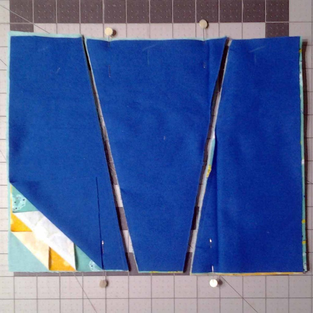 photo of 3-way Improv Rag Quilt Block Cut for Sewing
