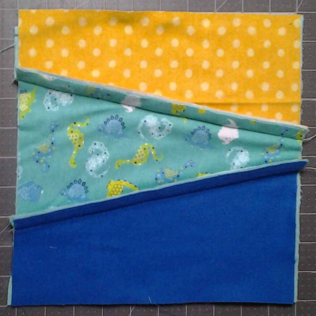 photo of 3-way Improv Rag Quilt Block Unclipped