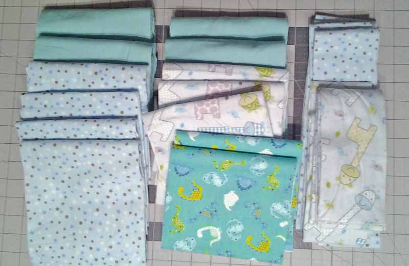 Photo of Simple flannel rag quilt fabrics