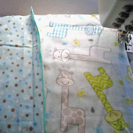 photo of how Rag Quilt seam will be exposed on the top of quilt