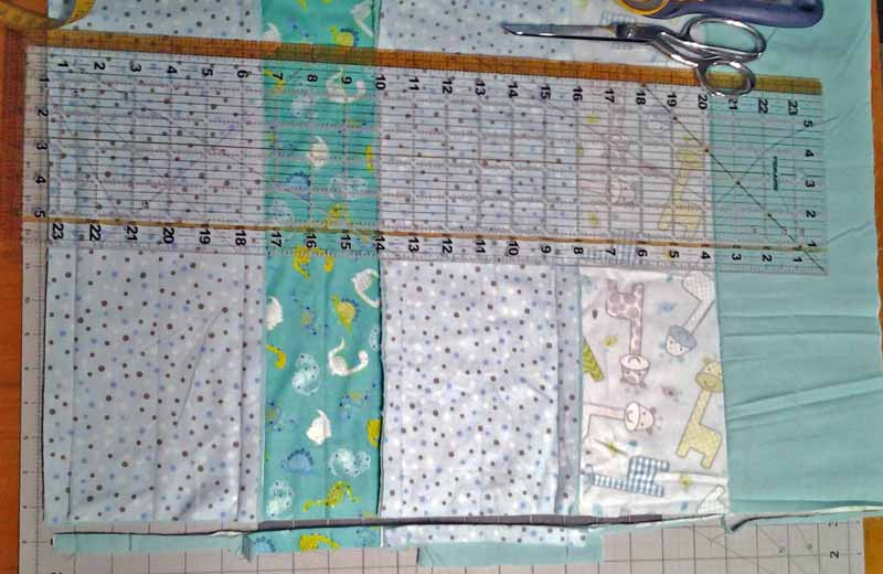 photo of how to trim rag quilt side edges even
