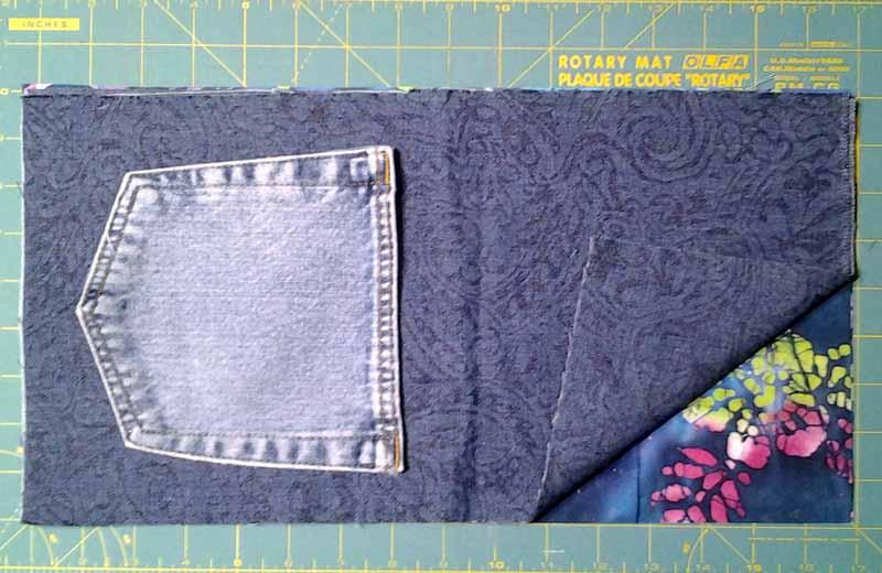 photo of Easy Start Quick Finish Summer Picnic BJ Pocket Mini Rag Quilt Flatware Rolls