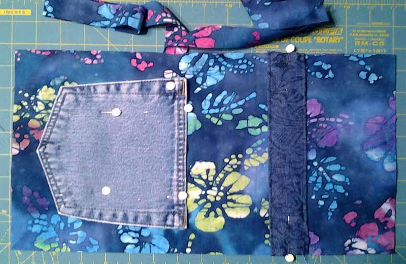 photo of Summer Picnic BJ Pocket Mini Rag Quilt Flatware Rolls sewing layout