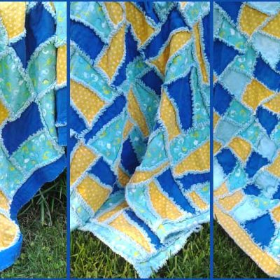 How to Make A Flannel Baby Rag Quilt