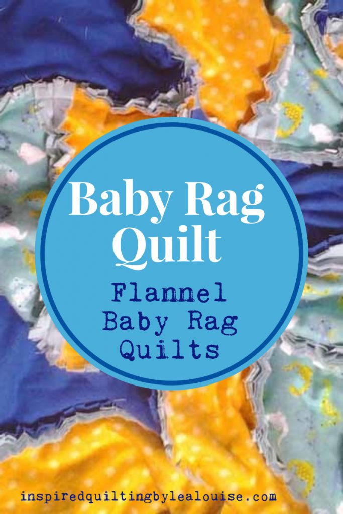 photo of flannel baby rag quilt pin