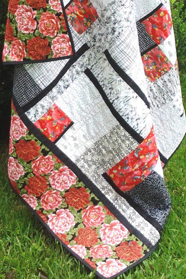 image of Batik Fat Quarter Quilt