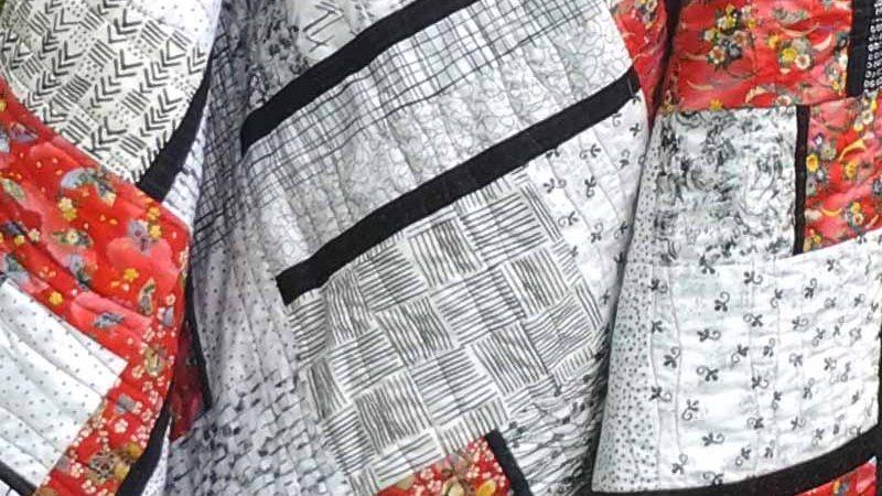 Modern Black, White & Bold Batik Quilts