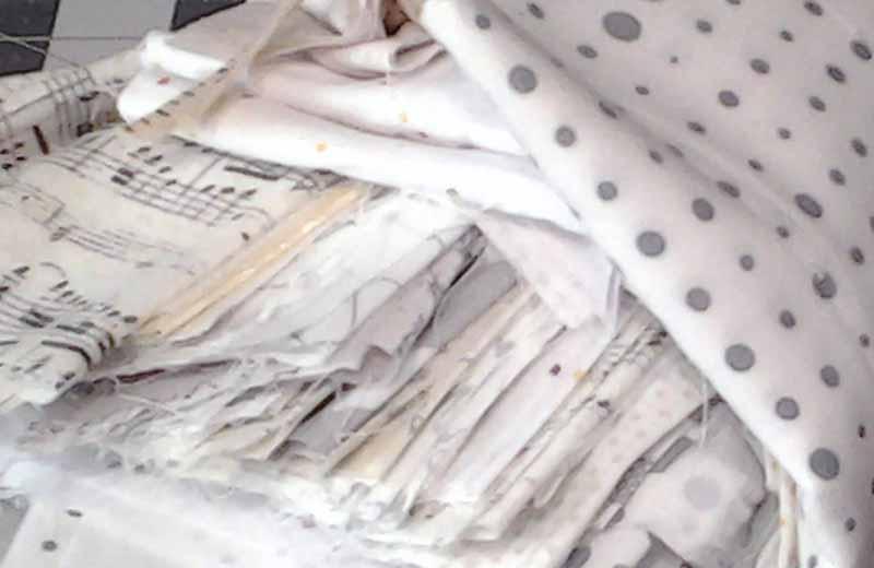 photo of bundle of low volume fabrics