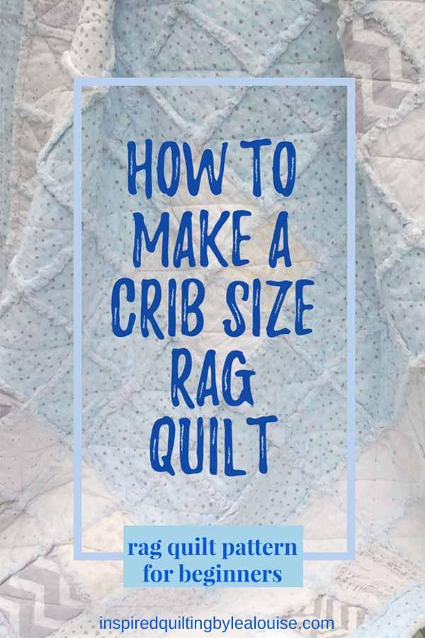 photo of low volume rag quilt