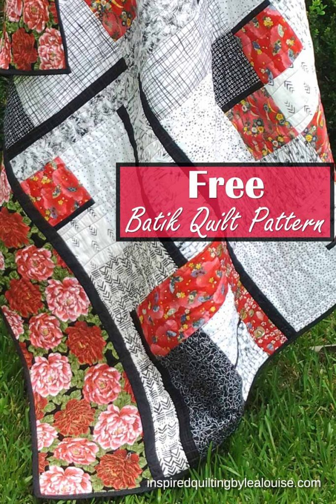 Photo of Black & White Batik Quilt Pin