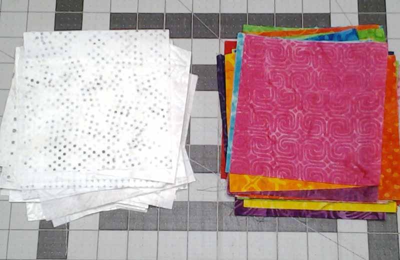Photo of Batik Charm Square Fabrics