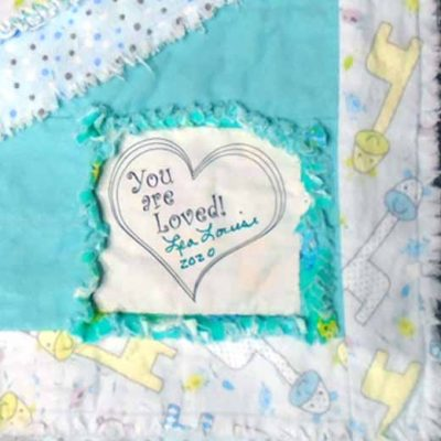 How To Label Your Rag Quilt