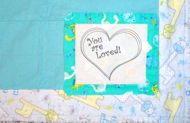 photo of How to Clip a Rag Quilt Label