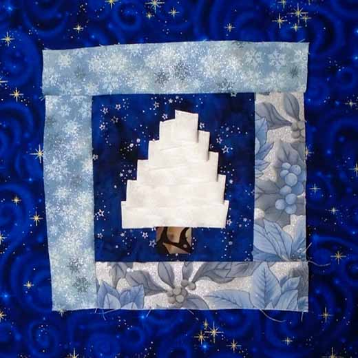 Photo of Folded Christmas Quilt Label