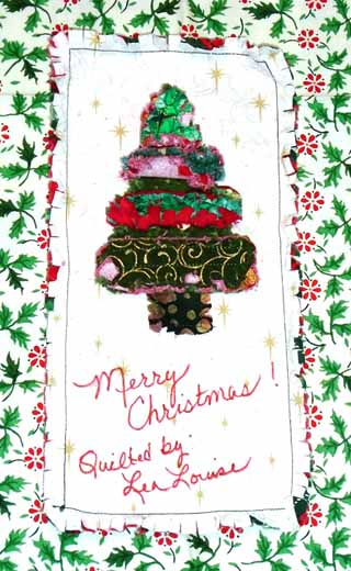photo of Rag Strip DIY Christmas Quilt Label