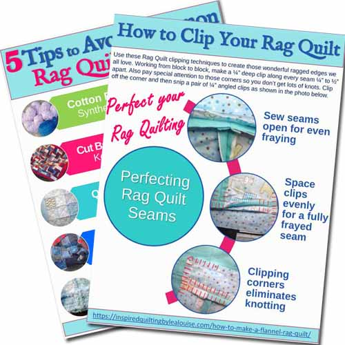 image of rag quilt printable to avoid common mistakes
