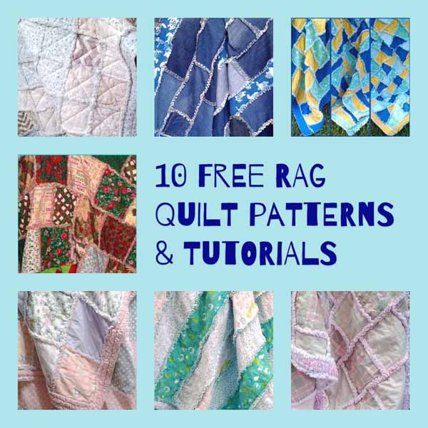 photo of Ten FREE-Rag-Quilt-Patterns