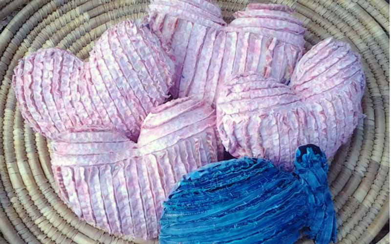 image of Basket-of-Heart-Shape-Chenille-Pillows